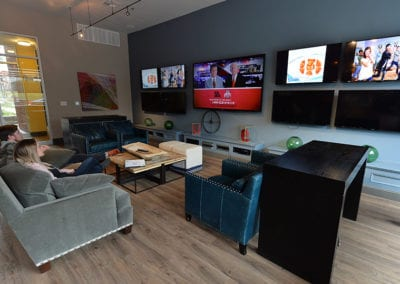 Relax and watch TV in our clubhouse.