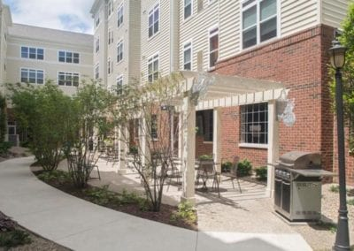 Grill out in our spacious courtyard.